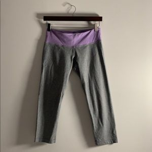 Purple and Grey Lululemon Capri Leggings